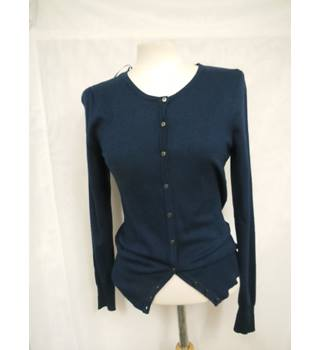 M&S Women's Navy Blue Cardigan M&S Marks & Spencer - Size: 18 - Blue - Cardigan