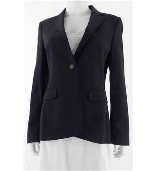 Jigsaw Size 12 Black Pinstripe Single Button Blazer