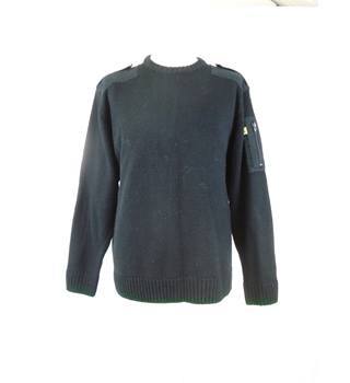 Work Wear Large Black Long Sleeved Sweater