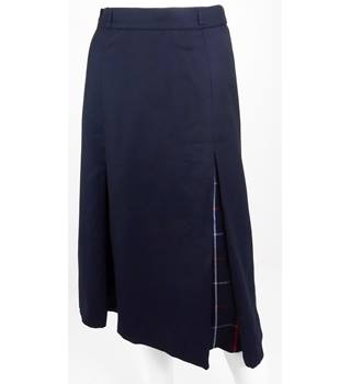 Burberry Size 10 Navy  Blue A-line Skirt