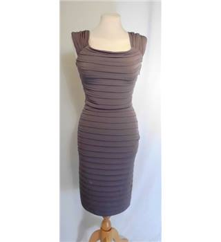 BNWT Monsoon Size 8 Taupe Pin-Tuck Dress
