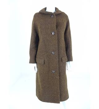"Vintage 1970's Unbranded Size: 40"" chest Brown Tweed Coat"