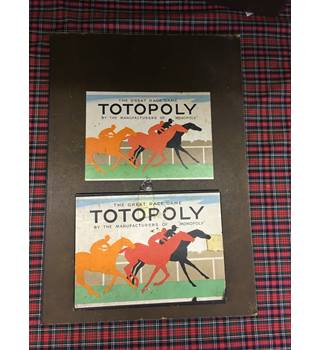 Vintage 1940's Waddington's Totopoly Board Game