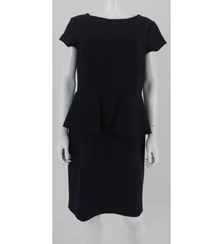 M&S Size 14 Black Peplum Style Evening Dress