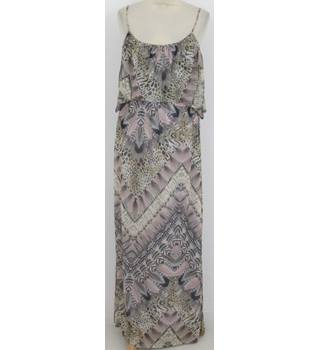 Miss Selfridge - Size: 10 - Beige print maxi-dress