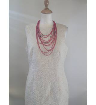 Pink Multi String Beaded Necklace Unbranded - Size: Large - Pink - Necklace