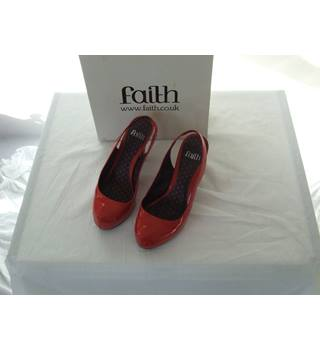 Faith Women's Dress Shoes High Heels in Red Size 5 Boxed Faith - Size: 5 - Red - Heeled shoes
