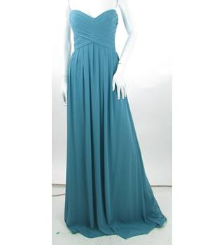 BNWT - Watters & Watters - Size: 8 - Blue - Full-Length Prom dress