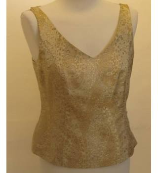 Laura Ashley - Size: 10 Top, 12 Trousers Metallic Gold Outfit