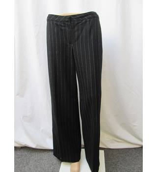 Jaeger - Size: 14 - Black pin Striped - Wide Leg Trousers