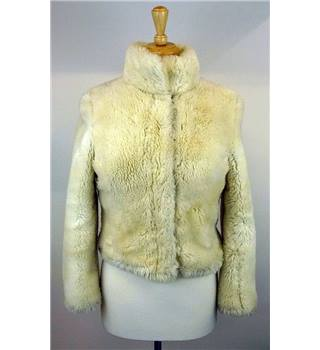 Miss Sixty - Size: XS - Cream faux fur jacket