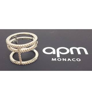 APM MONACO - Size: Small - Sterling Silver with Zirconia stones RING