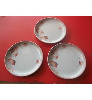 3 Denby Pottery Twilight Plates