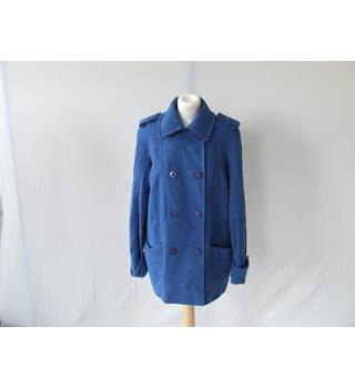 Reiss Sapphire Blue Double Breasted Coat Size Small Indie Boho Chic Reiss - Size: S - Blue - Jacket