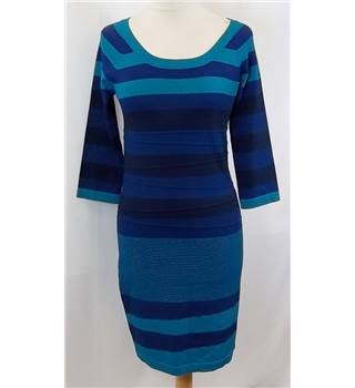 Max Studio - Size: S - Blue Shades Striped Dress