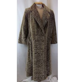 Jean Philippe Ricquier Paris - Size: S - Beige/ Stone - Faux Fur Long Coat