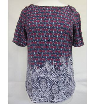 White Stuff Butterfly Print Top Short Sleeved size 8