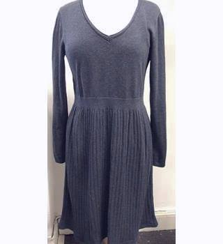 Fabulous Fat Face all-cotton Knitted dress - Size: 16 - Blue