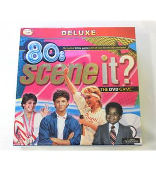 Brand new - 80s Scene it? Deluxe DVD board game.