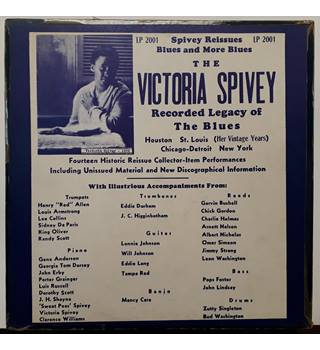 Victoria Spivey ‎– The Victoria Spivey Recorded Legacy Of The Blues VERY GOOD CONDITION Victoria Spivey - LP 2001