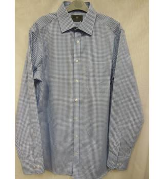 Men's Shirt M&S Marks & Spencer's Collection M&S Marks & Spencer - Size: M - Blue - Long sleeved