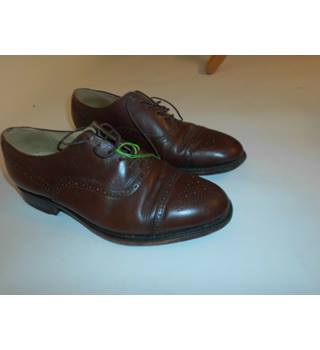 Mens GILROY & HASTNGS of London Brown Leather Brogues Size 8.5