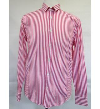 Ted Baker Cotton Pink Stripe Shirt size 4 (Large)