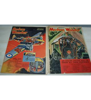 Vintage 1937 Modern Wonder Magazines (2 copies)