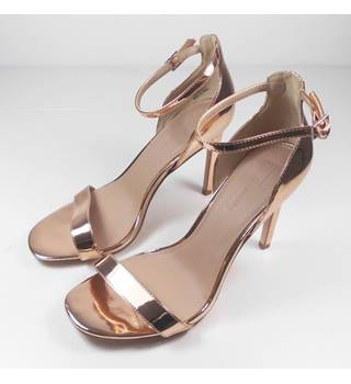 NEW ASOS Rose Gold Stiletto Sandals Size 6/1/2