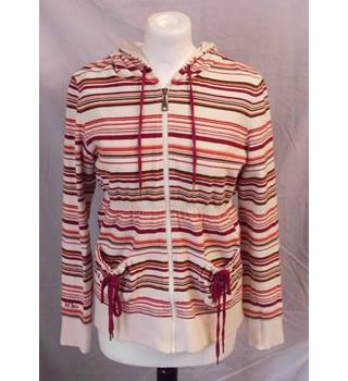 Fat Face - Size: 12 - Cream striped - Zipped hoodie