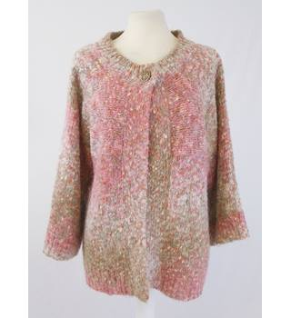 Per Una Small Pink Mix Slub knit Cardigan