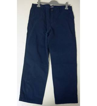 "BNWoT Land's End Size: L, 38"" waist, 34"" inside leg, traditional fit Blue Casual Cotton Straight Leg Lightweight Chinos"