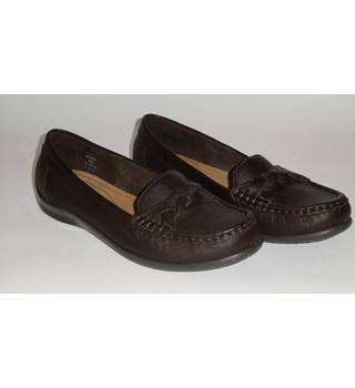 Hotter, size 6 brown leather loafers