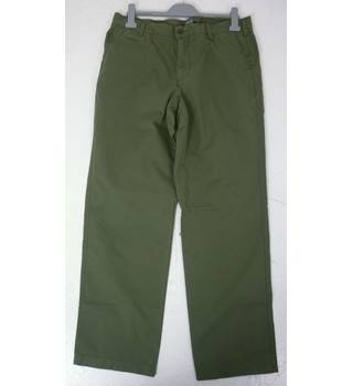 "BNWoT Land's End Size: M, 35 "" waist, 30"" inside leg, traditional fit Green Casual Cotton Straight Leg Lightweight Chinos"