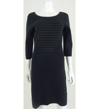 Calvin Klein Jeans Size XL Black & Green Embossed Dress