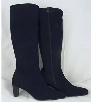 Gabor Size 3 Black Knee High Suede Boots