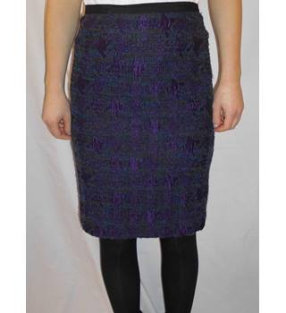Jigsaw - Size: 8 - Purple - Knee length skirt