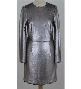 NWOT M&S Limited Edition size: 8 silver sequined dress