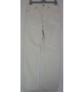 "BNWoT Land's End Size: M, 32"" W,  32"" L, traditional  fit White Casual Cotton Straight Leg Jeans"
