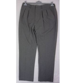 "BNWoT Asos  Size: M, 34"" waist, 27"" inside leg, traditional fit Grey Stylish Polyester Tapered Leg Twin Pleat Trousers"