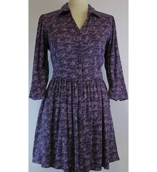 "Ness - Size 36"" chest - Purple with pink pattern dress"