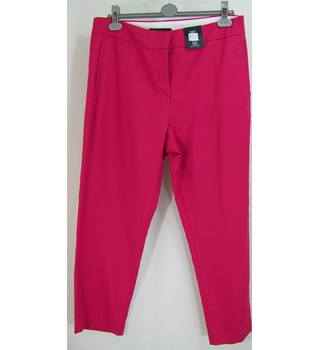M&S Marks & Spencer - Pink Cropped Trousers 14 Regular