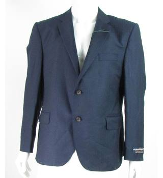 BNWT - Alfred Brown - Size: 44S - Navy Blue - 100% Wool - Single breasted suit jacket