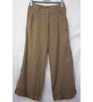"Next - Size: 8R - 26"" waist - Crocodile Green Trousers"