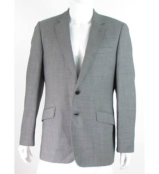 Jaeger - Size: 42R - Pale Grey - 100% Wool - Single breasted suit jacket