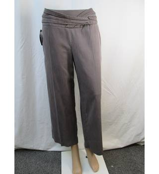 Betty Jackson Black - Size: 12 - Brown - Cropped trousers