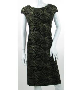 BNWT - Roman - Size: 20 - Black/Gold - Knee length dress