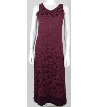 VINTAGE 90's Laura Ashley Size 8 Deep Maroon Long Dress