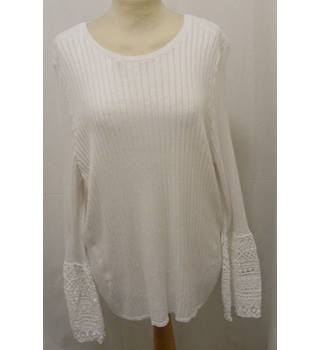 M&S Marks & Spencer Collection - Size: 22 -Ivory Jumper