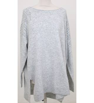 NWOT M&S , size XL Silver Grey Wide Neck Knitted jumper